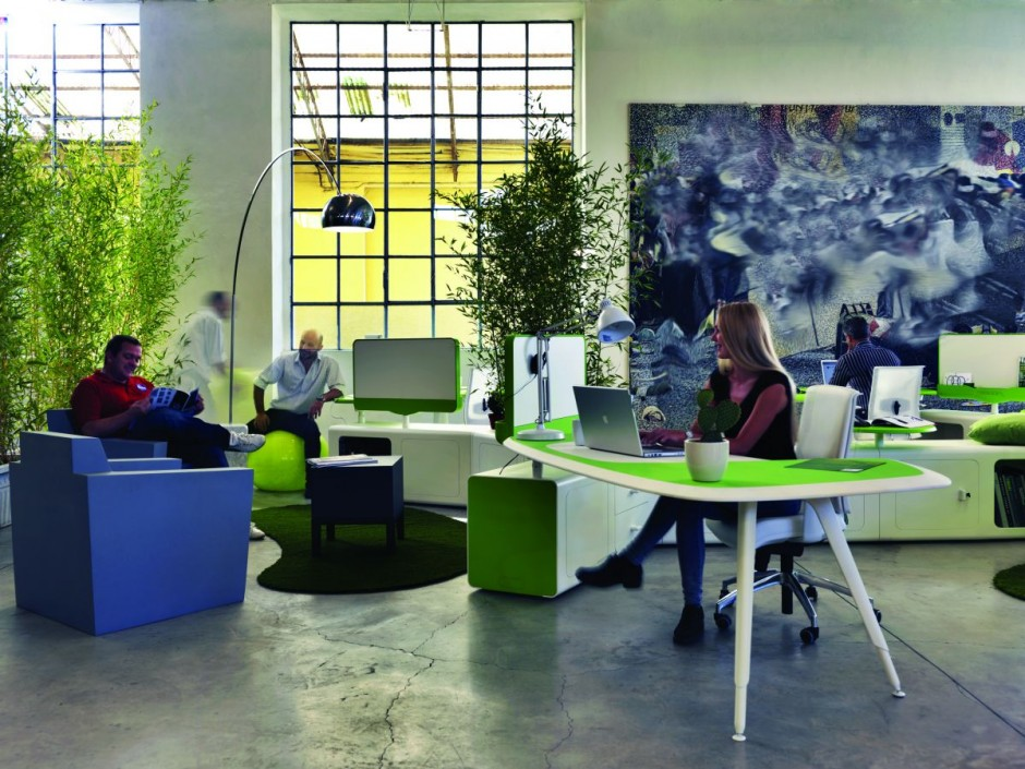 Transforma tu oficina con color bms marketing solutions - Creative attarctive home office decorating ideas ...